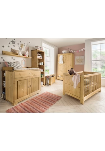 Fantasykids Babyzimmer - Komplettset (Set, 7 - tlg Bett + Wickelkommode + 1x Unterbauregal + 2 - trg. Schrank + Strandregal + Deckeltruhe + Wandboard) kaufen