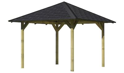 Karibu Pavillon »Sevilla«, (Set), BxTxH: 340x340x290 cm, mit schwarzen Dachschindeln kaufen