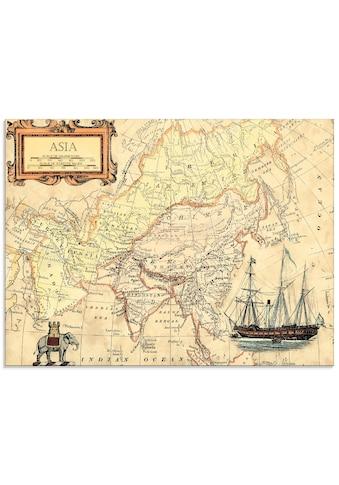 Artland Glasbild »Asienkarte«, Landkarten, (1 St.) kaufen