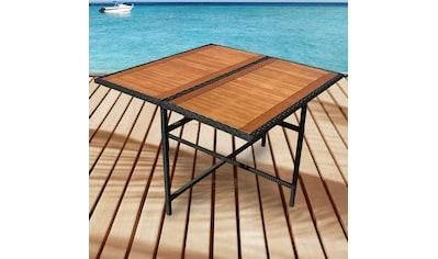 indoba Gartentisch »Faro«, quadratisch - Polyrattan - IND-70076-TI kaufen
