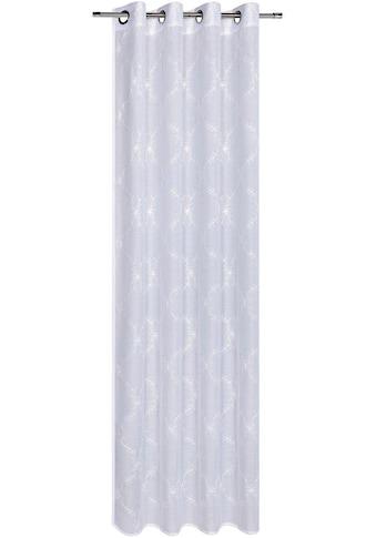 Gerster Vorhang »Grit«, HxB: 235x140, Ösenschal mit floraler Stickerei kaufen