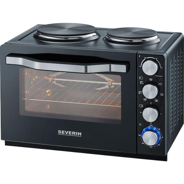 Severin, Multiofen »Minibackofen, Kleinküche, Back- und Toastofen mit Kochplatten TO 2065«