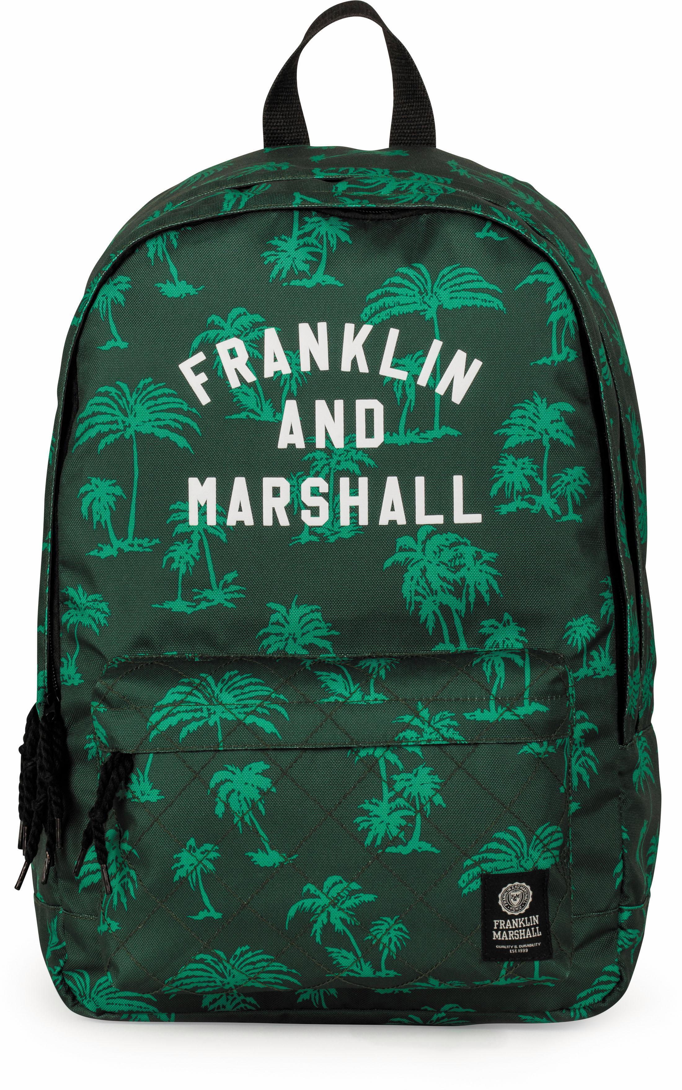 Franklin & Marshall Rucksack mit 2 Hauptfächern, »Boys Palmen grün«   Taschen > Rucksäcke > Sonstige Rucksäcke   Grün   FRANKLIN & MARSHALL