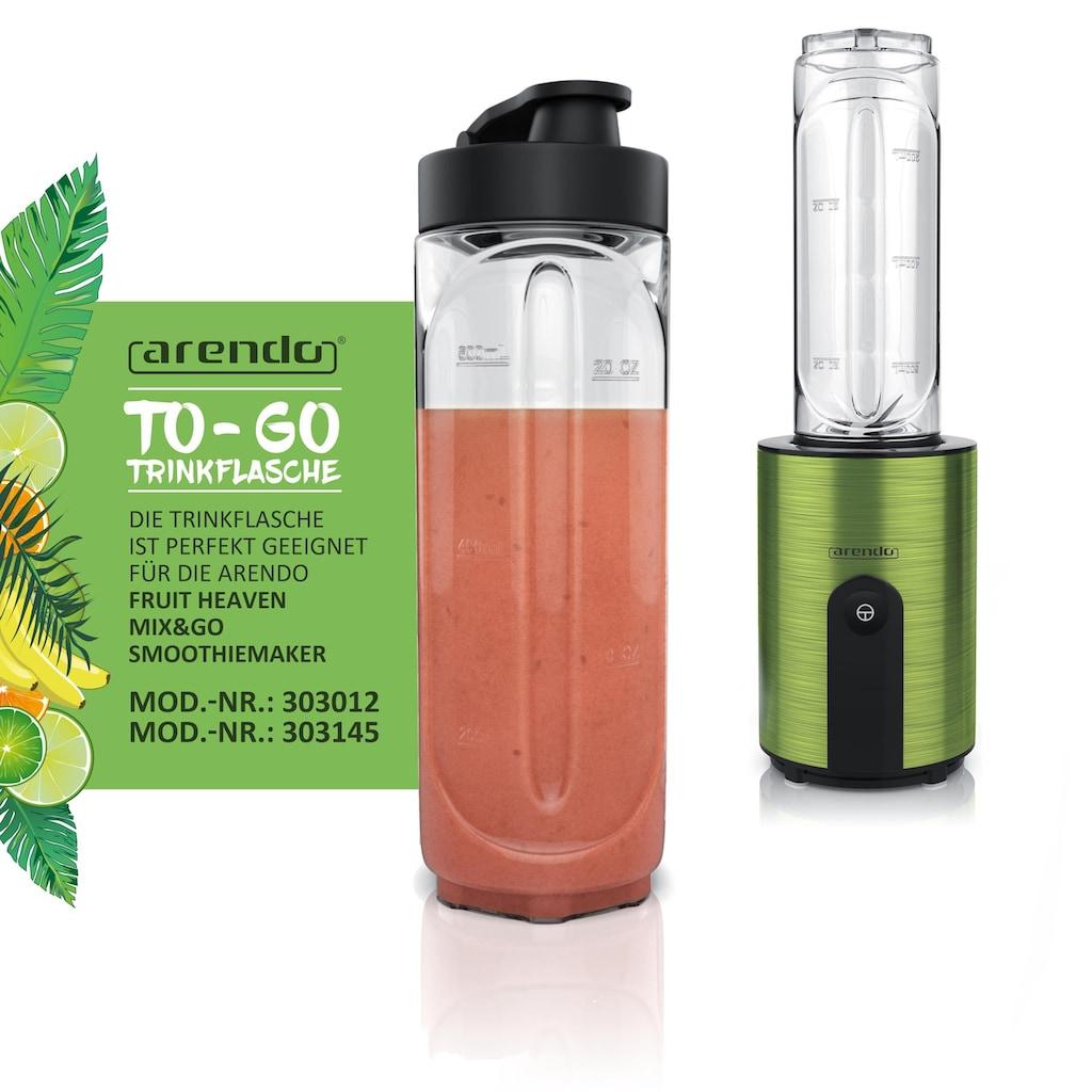 Arendo Trinkflasche für den Arendo - Smoothiemaker »Mix & Go Trinkbehälter 0,6l«