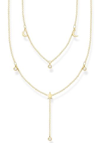 THOMAS SABO Kette mit Anhänger »weiße Steine, Mond, Stern, KE2070-414-14-L45v«, mit... kaufen