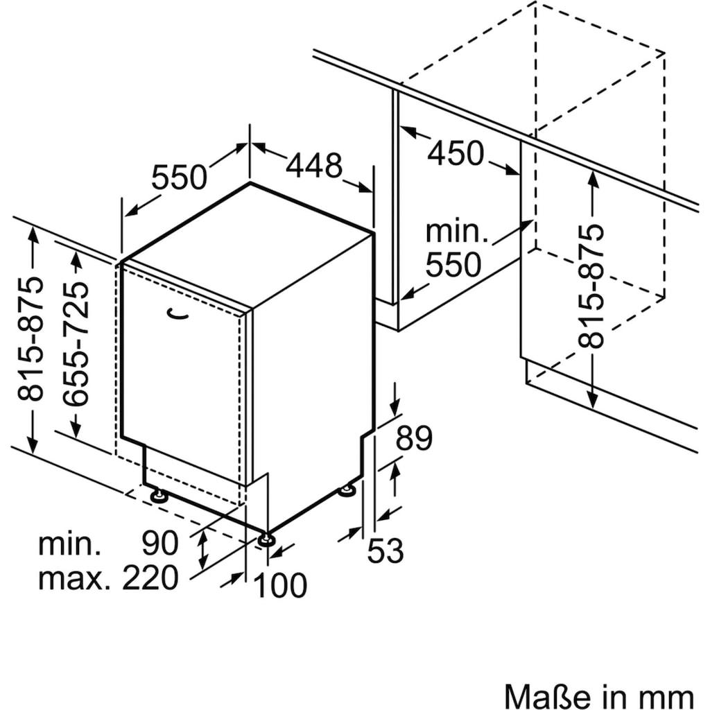 SIEMENS vollintegrierbarer Geschirrspüler »SR63HX64KE«, iQ300, SR63HX64KE, 9 Maßgedecke