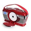 Auna Retro Kofferradio Vintage Look UKW USB MP3 Uhr CD Player tragbar