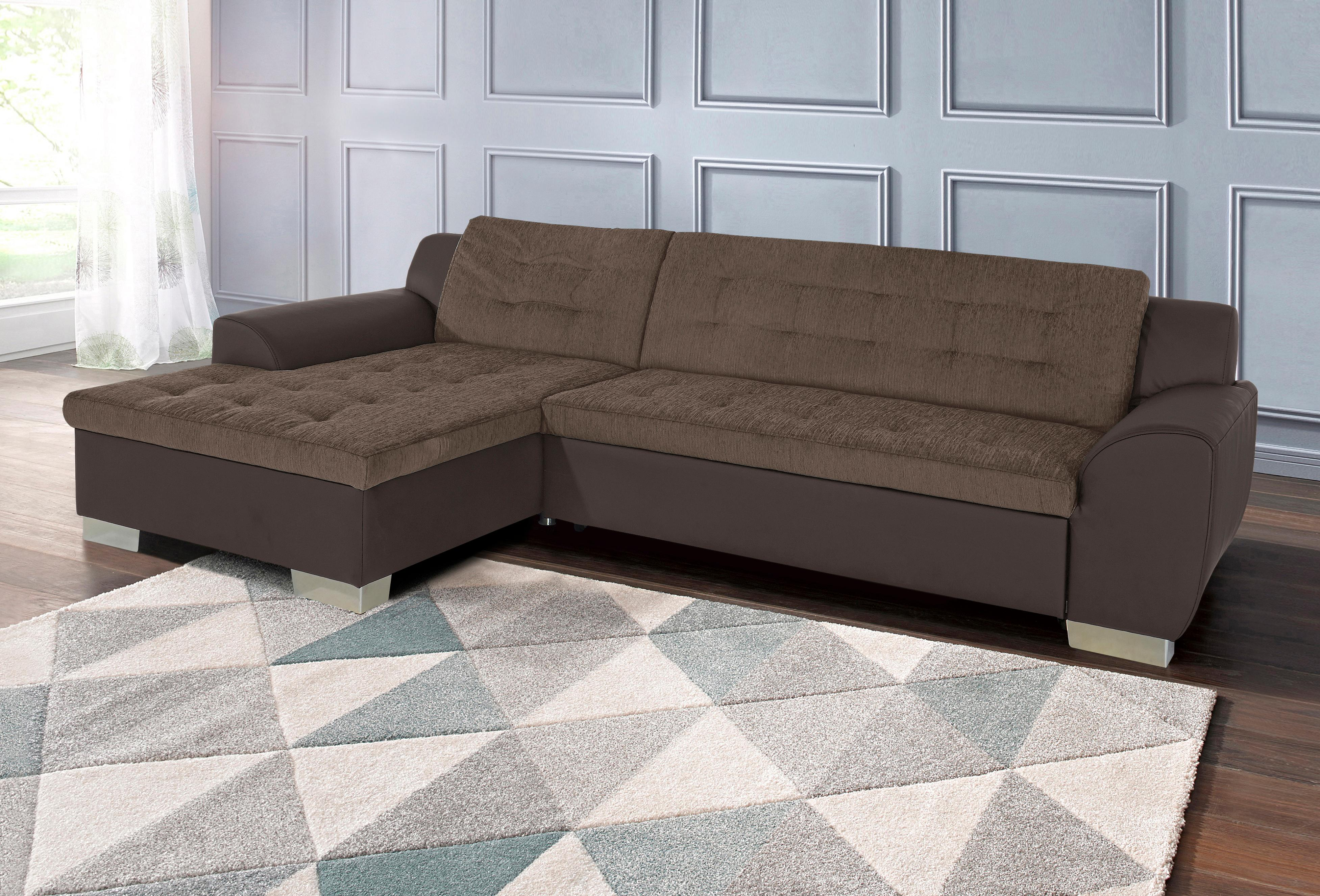 DOMO collection Ecksofa | Wohnzimmer > Sofas & Couches > Ecksofas & Eckcouches | Braun | DOMO COLLECTION
