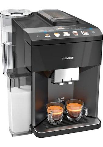 SIEMENS Kaffeevollautomat »EQ.5 500 integral TQ505D09«, einfache Bedienung, integrierter Milchbehälter, zwei Tassen gleichzeitig kaufen