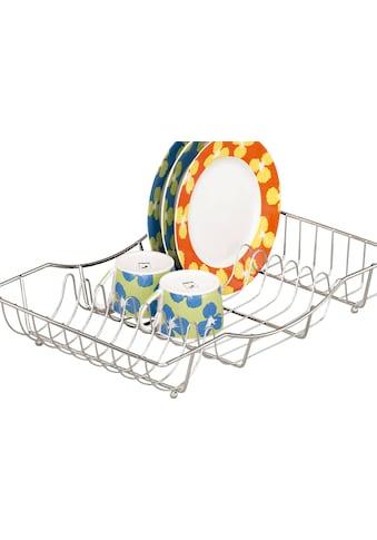 Zeller Present Geschirrständer, für bis zu 18 Teller geeignet, aus verchromtem Metall kaufen