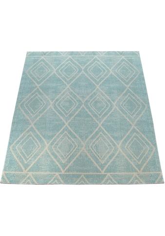 Paco Home Teppich »Artigo 427«, rechteckig, 2 mm Höhe, Rauten Design, In- und Outdoor... kaufen