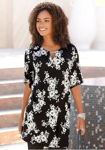 LASCANA Longshirt, mit dezentem Blumendruck kaufen
