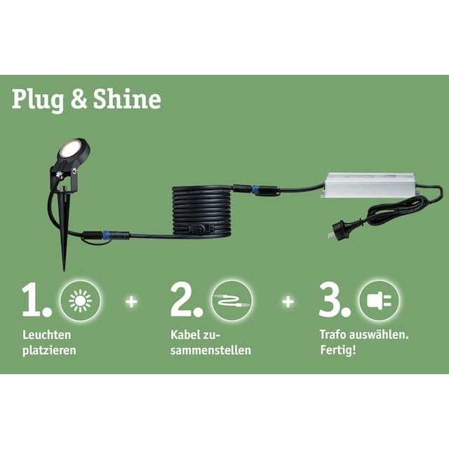 Paulmann,LED Gartenstrahler»Outdoor Plug & Shine Spotlight Cone«,