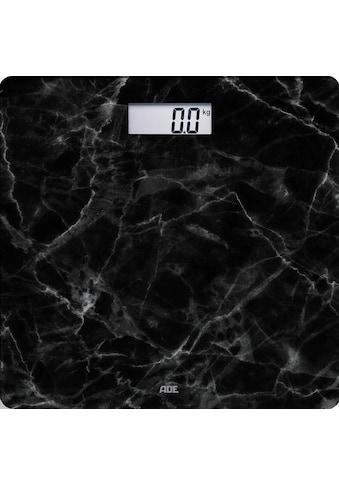 ADE Personenwaage »BE 1712 Aurora«, Glaswaage, Wiegefläche in schwarzer Marmor-Optik kaufen