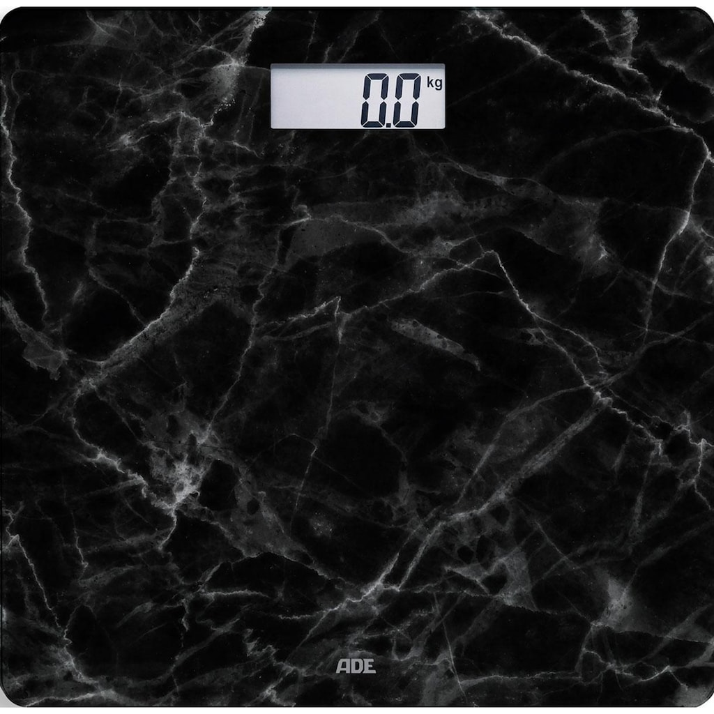 ADE Personenwaage »BE 1712 Aurora«, Glaswaage, Wiegefläche in schwarzer Marmor-Optik