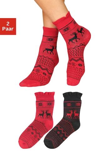 Sympatico Socken, (2 Paar), im winterlichen Norweger Design kaufen