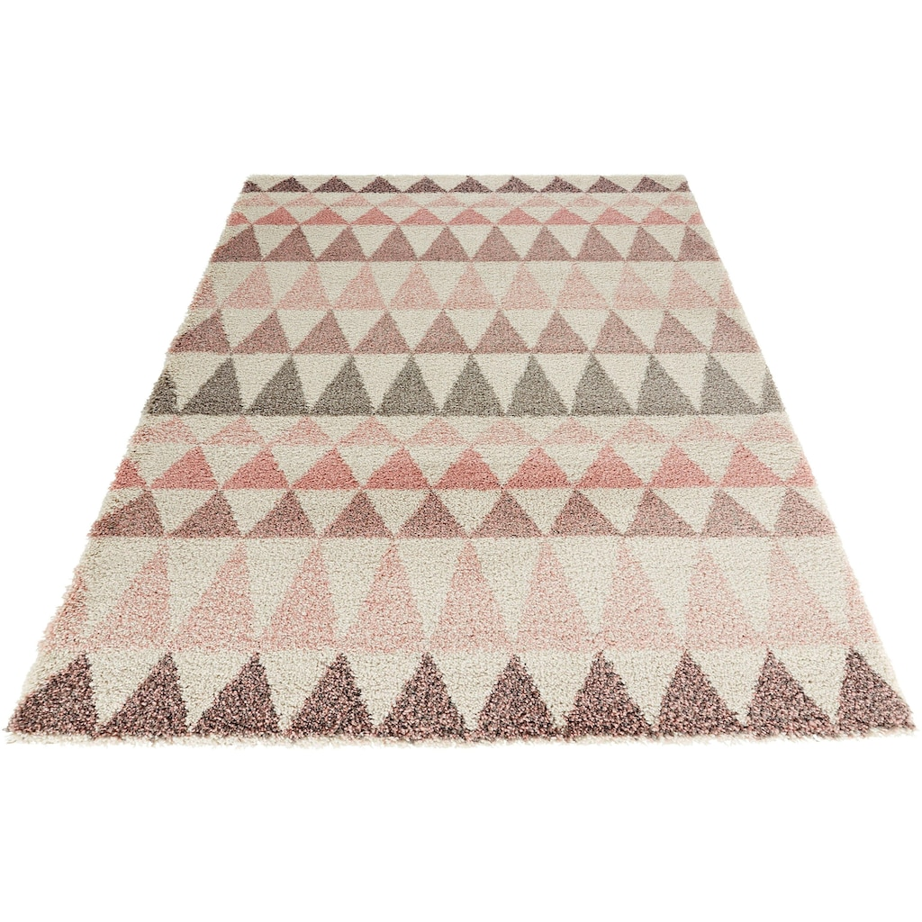 MINT RUGS Hochflor-Teppich »Triangle«, rechteckig, 35 mm Höhe, besonders weich durch Microfaser