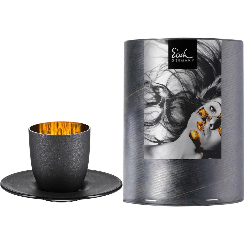 Eisch Espressoglas »Cosmo gold«, (Set, 2 tlg.), Echtgold, handgefertigt, bleifrei, 100 ml, 2-teilig