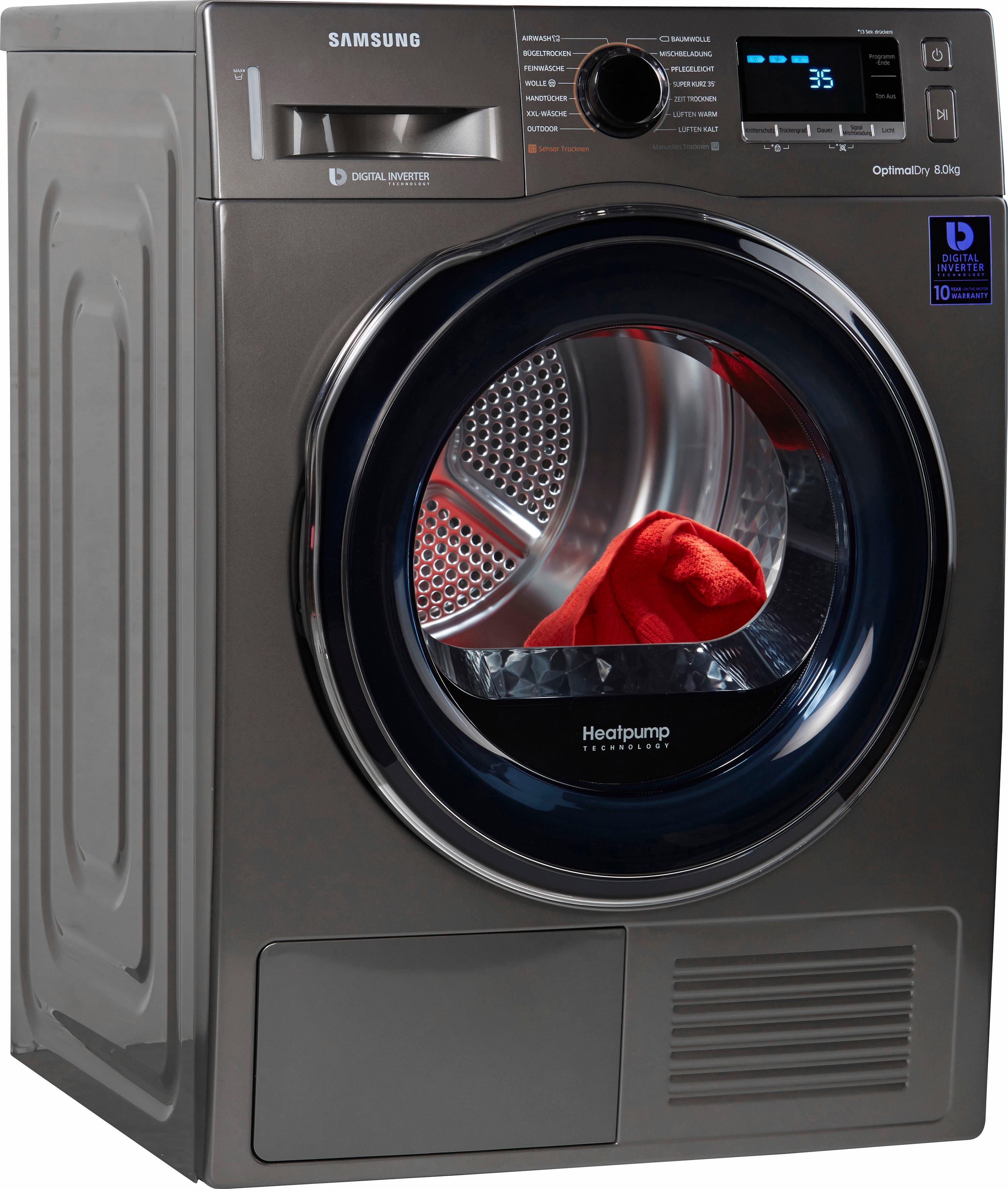 Samsung Wärmepumpentrockner DV6800 DV81M6210CX/EG, 8 kg | Bad > Waschmaschinen und Trockner | Silberfarben | SAMSUNG