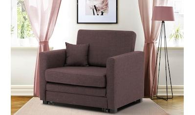 Home affaire Sessel »Mexico«, mit ausziehbarer Schlaffunktion, B/T/H: 98/83/87 cm kaufen