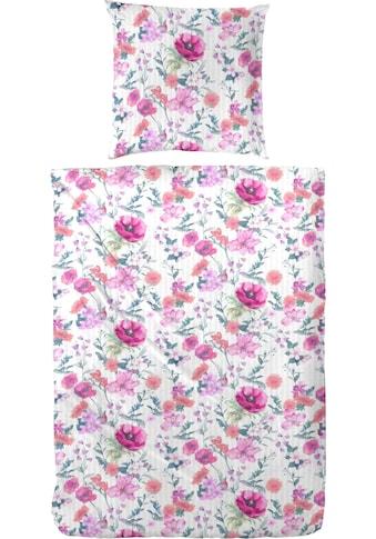 Primera Bettwäsche »Sommerwiese«, mit bunten Blumen kaufen