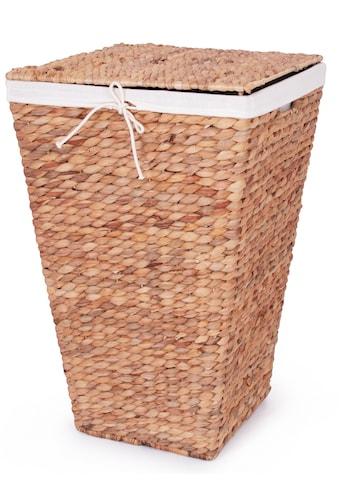 Franz Müller Flechtwaren Wäschekorb »Wasserhyazinthe«, mit Deckel, Höhe ca. 60 cm kaufen
