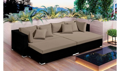 BAIDANI Loungeset »Paradise«, 16 tlg., 1 Sofa, 2 Hocker inkl. Auflagen kaufen