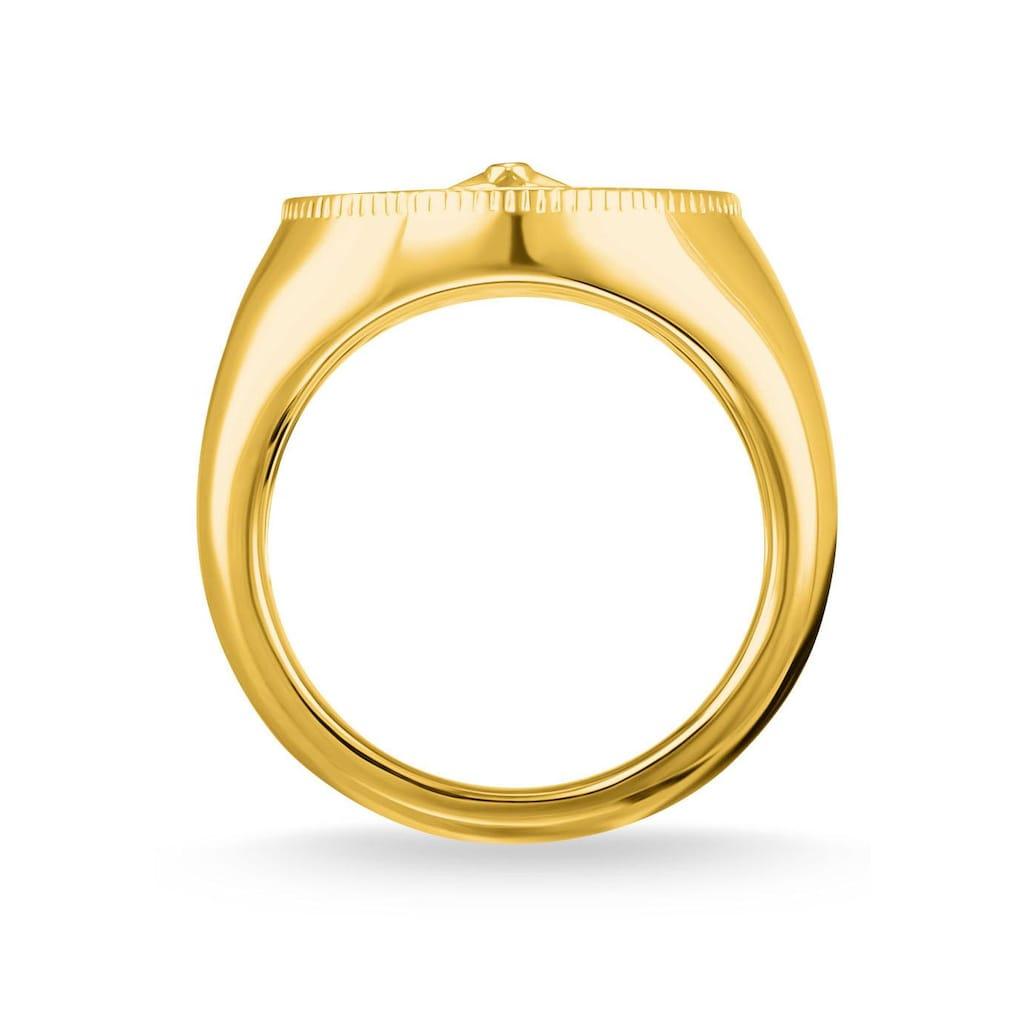 """THOMAS SABO Diamantring »Ring """"Vintage Kompass gold"""", D_TR0042-924-14-48, 50, 52, 54, 56, 58, 60«, mit Diamant"""