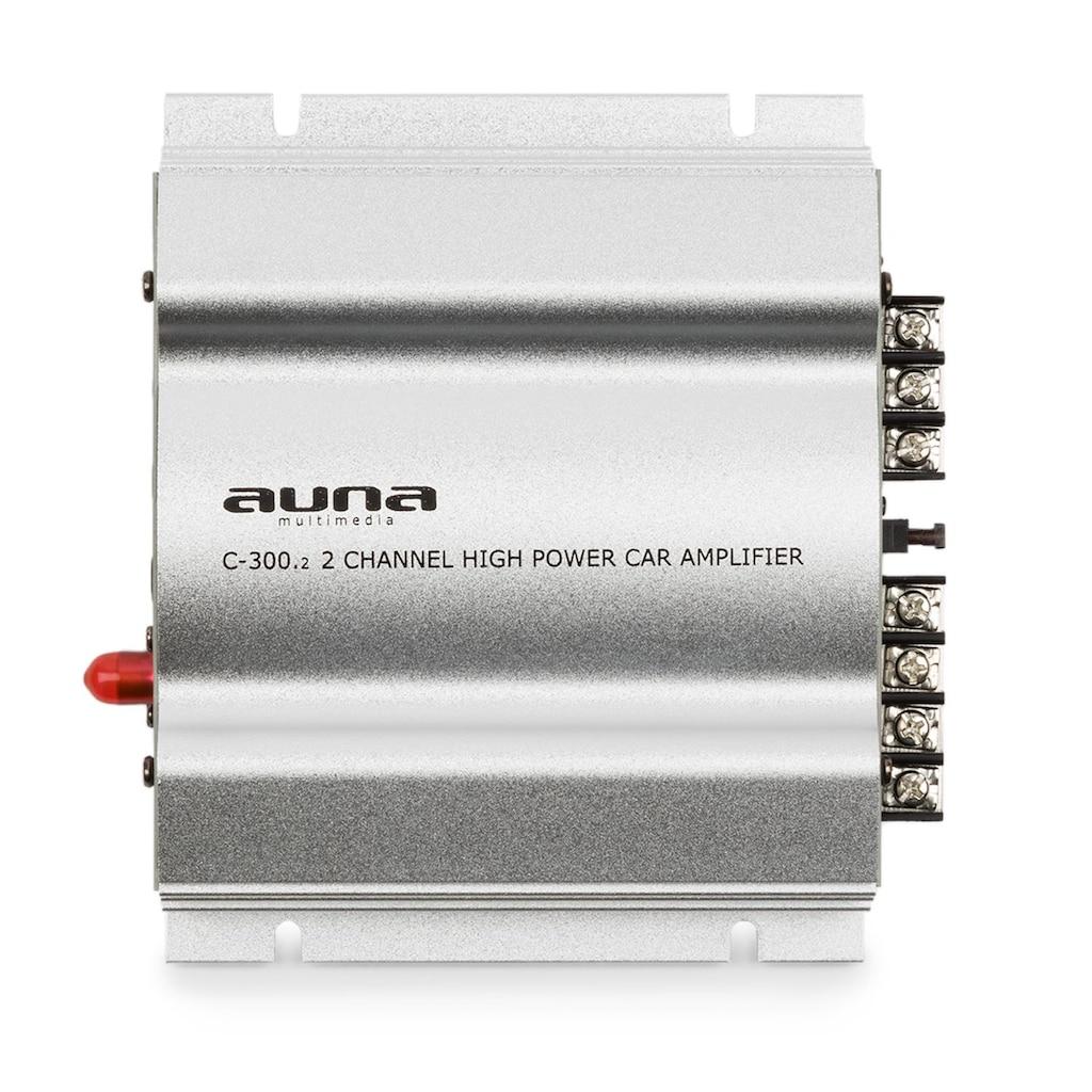 Auna 2-Kanal-Verstärker Auto-Endstufe 2x200Wmax. 2x100W