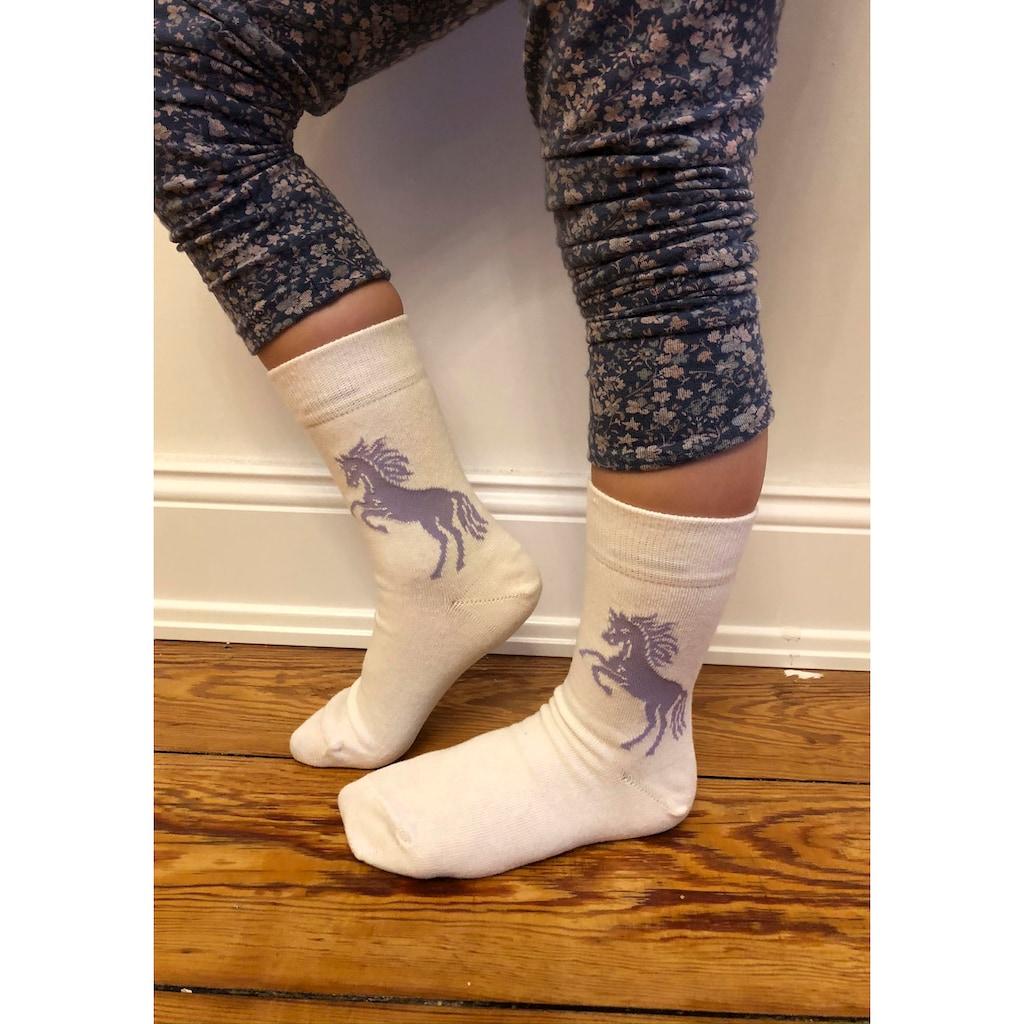 Arizona Socken, (5 Paar), mit Pferdemotiven