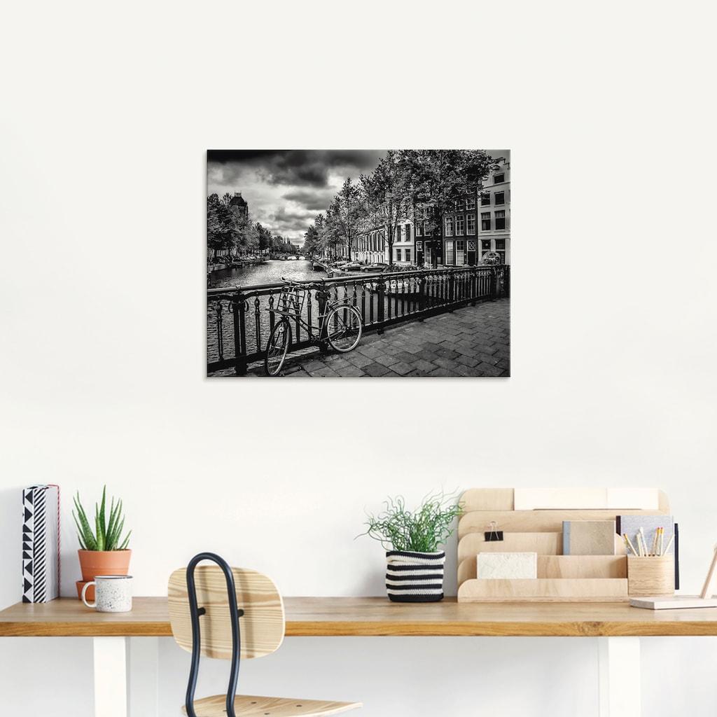 Artland Glasbild »Amsterdam Keizergracht I«, Niederlande, (1 St.)