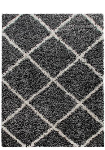 Home affaire Hochflor-Teppich »Kalmarova«, rechteckig, 45 mm Höhe, grafisches Design,... kaufen