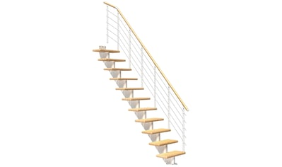 DOLLE Mittelholmtreppe »Frankfurt Birke 75«, bis 258 cm, Edelstahlgeländer, versch. Ausführungen kaufen