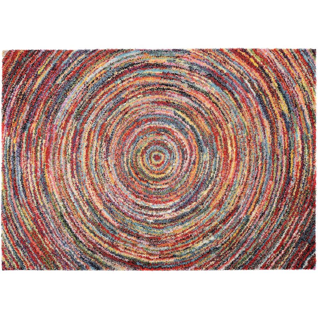 OCI DIE TEPPICHMARKE Hochflor-Teppich »Sixteen Round«, rechteckig, 25 mm Höhe