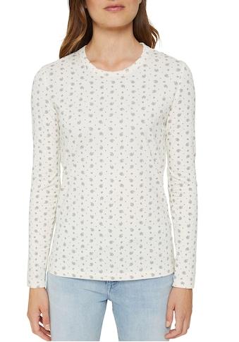 Esprit Langarmshirt, mit Allover-Print kaufen