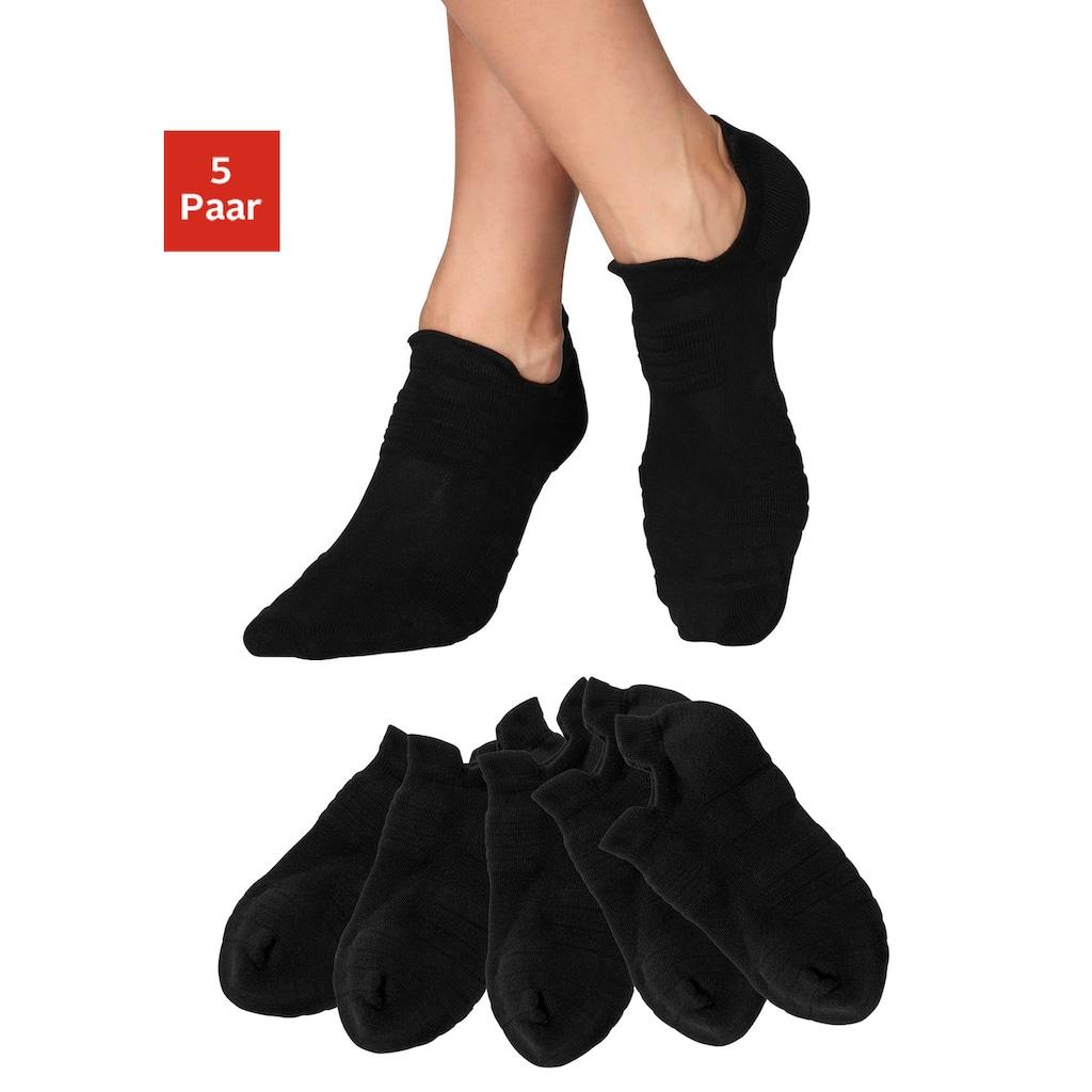 LASCANA ACTIVE Sneakersocken, (5 Paar), mit Frottee Details