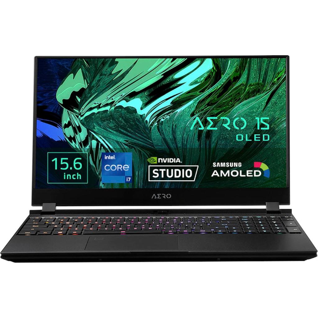 "Notebook »AERO 15 OLED XD-73DE644SP«, (39,62 cm/15,6 "" Intel Core i7 RTX,™ 3070\r\n 1000 GB SSD), Kostenloses Upgrade auf Windows 11, sobald verfügbar"
