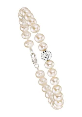 Firetti Armband, mit Kristallen und Süßwasserzuchtperlen - perfekt als Brautschmuck! kaufen