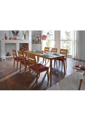 SCHÖSSWENDER Essgruppe »Filippa«, (Set, 7 tlg.), aus Massivholz Eiche kaufen