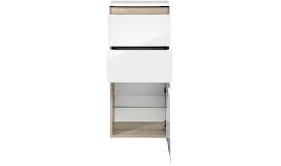 FACKELMANN Midischrank »Piuro«, Badmöbel H/B/T: 89,5 x 40,5 x 30,5 cm, 2 Schubladen, 1 Tür kaufen