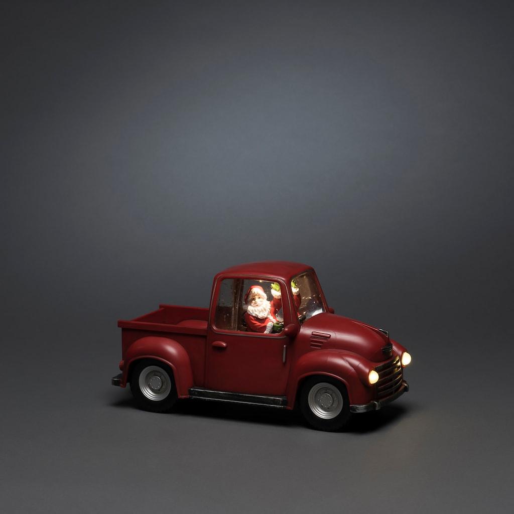KONSTSMIDE LED Pick-Up mit Weihnachtsmann
