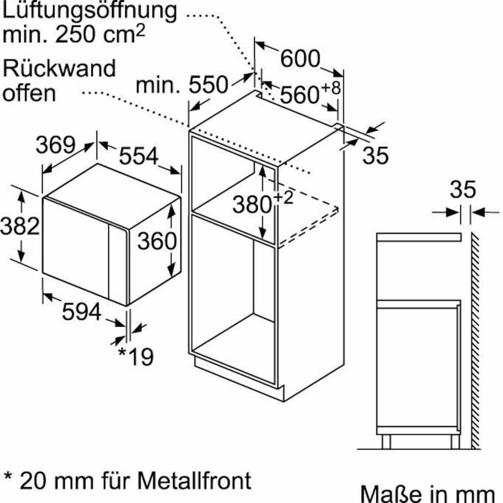 NEFF Einbau-Mikrowelle »N 50 HLAGD53N0«, Grill-Mikrowelle, 900 W