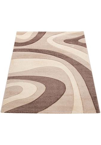 Paco Home Teppich »Inferno 241«, rechteckig, 17 mm Höhe, Kurzflor mit wohnlichem... kaufen