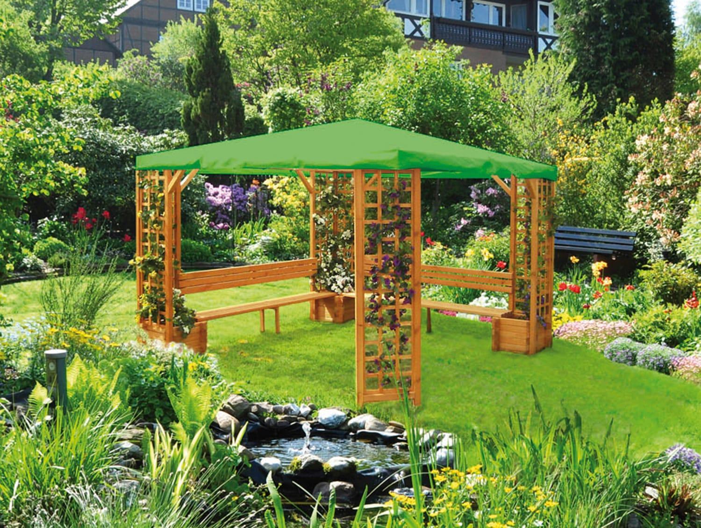 PROMADINO Holzpavillon »Mindelheim«, BxT: 300x300 cm | Garten > Pavillons | Braun | Kiefernholz | PROMADINO
