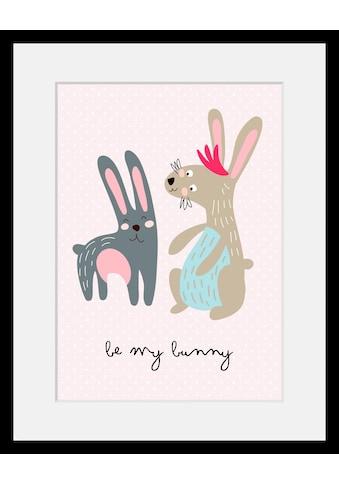 Home affaire Bild »Be my Bunny«, mit Rahmen kaufen