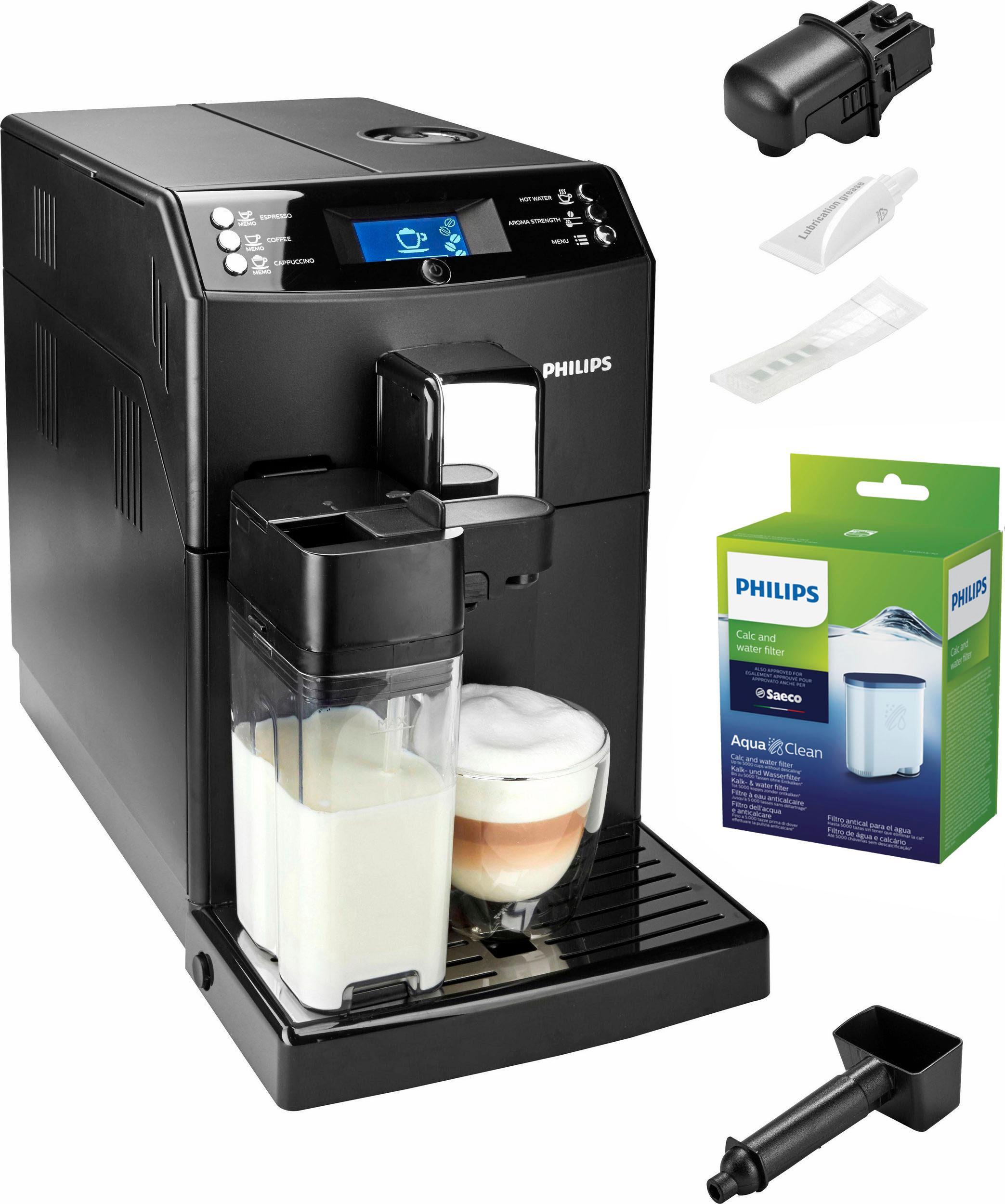Philips Kaffeevollautomat 3100 Serie EP3550/00, 1, 8l Tank, Scheibenmahlwerk   Küche und Esszimmer > Kaffee und Tee > Kaffeevollautomaten   Schwarz   Keramik   Philips