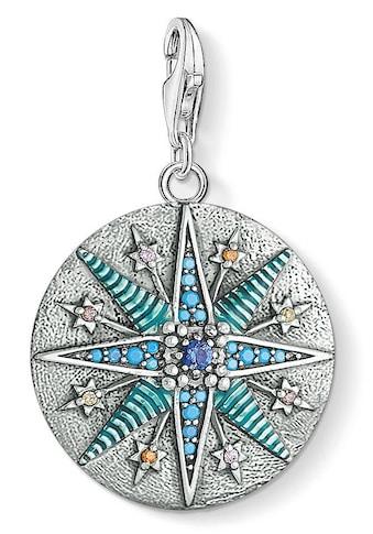 """THOMAS SABO Charm-Einhänger »Charm-Anhänger """"Vintage Stern"""", 1715-845-7«, mit Zirkonia und Glassteinen kaufen"""