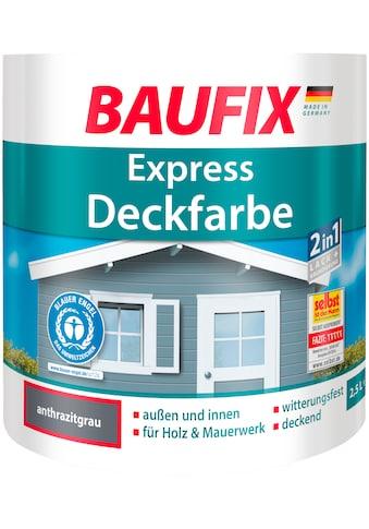 Baufix Lack »Express Deckfarbe«, 2,5 Liter, schwarz kaufen