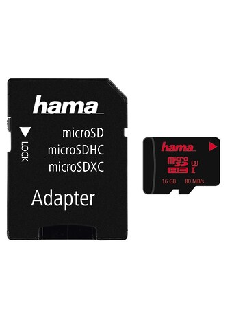 Hama micro SDHC 16 GB UHS Speed Class 3 UHS- I 80MB/s + Adapter kaufen