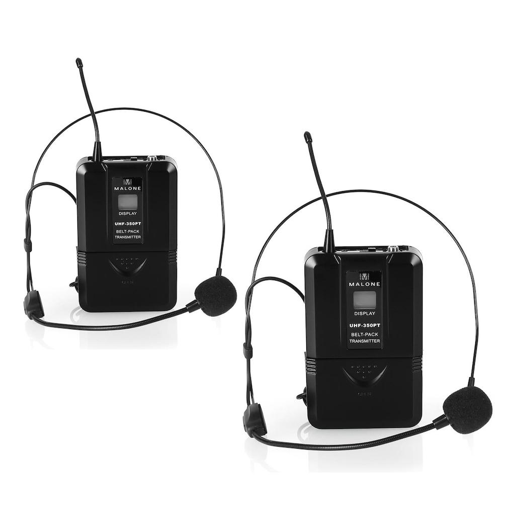 Malone UHF Funkmikrofon Set 2 Kanal »UHF 450 Duo2«